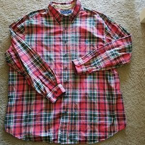 Men's 2XL Red Plaid U.S. Polo Assn. Shirt
